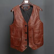 2019 bonjean new arrival leather motorcycle vest mens slim fit real brown cow genuine leather waistcoat bikers vest size l 8xl from modleline
