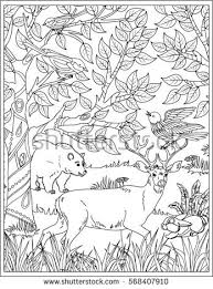 nature scene coloring page