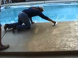 pool deck paint colorsDecorative Concrete Pool Deck Coatings by SiderCrete Inc  YouTube