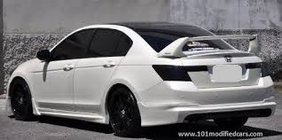 honda accord 2008 modified. Interesting 2008 Modified Honda Accord 8th Generation 24l Sedan White Painted With  Mugen Body Kit Black Roof Top And Rear Wing And 2008 U