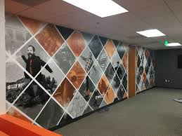 Wall murals office Futuristic Office Wall Mural Superior Signs And Graphics Custom Wall Graphics Murals Printed Wallpaper Buena Park Ca 90621