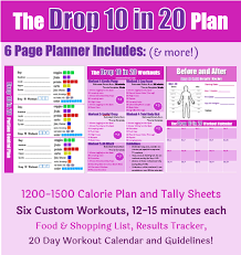 drop 10 pounds in 20 days fitness pler