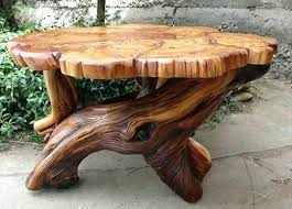 tree trunk coffee table stump creative ideas to decorate with trunks or stumps glass top base