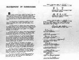 Image result for 1945年 - 連合国に対する降伏文書(ポツダム宣言)に調印