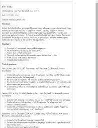 Hr Coordinator Resume - Kerrobymodels.info