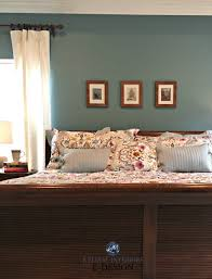 Paint colors for furniture Shaker Sherwin Williams Moody Blue With Cherry Wood Bedroom Furniture Kylie Edesign Online Paint Color Consultant Kylie Interiors Sherwin Williams Moody Blue With Cherry Wood Bedroom Furniture