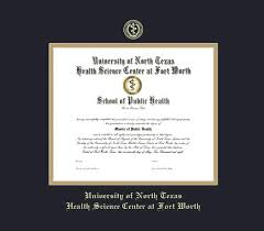 custom diploma frames certificate frames framing success u  u of north texas health science center at fort worth diploma ma pre 12 08 frame black and gold double mat and gold embossing