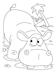Small Picture Scared hippopotamus coloring pages Download Free Scared