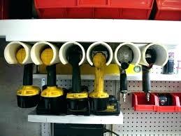 tool organizer wall power storage garage yard ideas tutorial using pipe