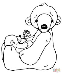Small Picture Cute Polar Bear Baby coloring page Free Printable Coloring Pages