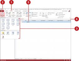 Access 2013 Templates Creating An Application Part Using A Template Planning And