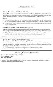 Banking Resume Example
