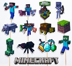 Minecraft Toppers Printable Cake Edible
