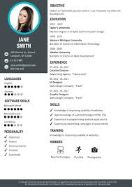 Resume Builder Online Creative Resume Templates CraftCv Impressive Creative Resume Builder