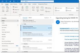 the outlook search bar is changing