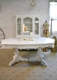 white dining table shabby chic country. Country Chic Dining Table Painted Shabby Furniture White