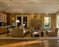 family room lighting design. example of a trendy medium tone wood floor family room design in chicago with beige walls lighting