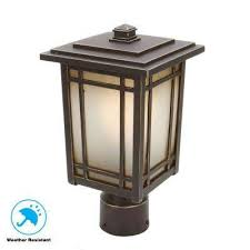 port oxford 1 light oil rubbed chestnut outdoor post mount lantern