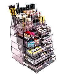 love this purple seven drawer acrylic makeup organizer