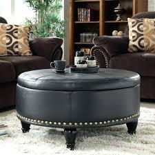 round leather ottoman round ottoman coffee table best round leather ottoman ideas on leather for popular household round tufted round ottoman coffee table