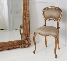 french gold accent chair