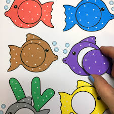 colored fish printables. Plain Fish Fish Color Match For Preschool And Kindergarten Inside Colored Fish Printables D