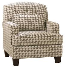 Living Room Chairs With Arms Patrick Contemporary Houndstooth Accent Chair With Track Arms By