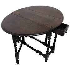 17th century oak barley twist drop leaf table owned by actress jean simmons