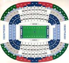 Dallas Cowboys Seating Chart With Rows Ticket Faq Dtupgrades