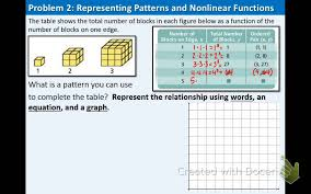 4.3: Patterns and Non-Linear Functions - YouTube