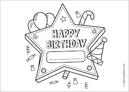 Happy Birthday Card Printable Template Coloring Printable Birthday Coloring Pages Amazing Card