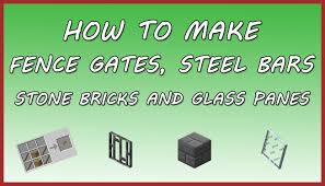how to make a fence minecraft. Fence Gate Cobblestone Recipe Astonishing Minecraft How To Make Steel Bars Stone Bricks A