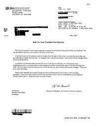 irs tax notices letters