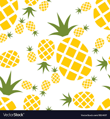 Pineapple Pattern Mesmerizing Pineapple Seamless Pattern Royalty Free Vector Image