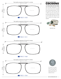 Eyeglass Frame Size Chart Rectangle Clip Ons