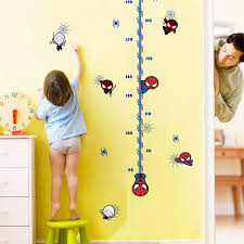 Us 3 49 Kac006 Baby Spider Man Height Chart Measurements Wall Sticker Nursery Decor Boys Decal Art Mural Growth Chart In Wall Stickers From Home