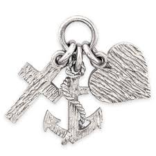 details about sterling silver faith hope charity pendant charm handmade uk