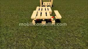 Tavoli Da Giardino In Pallet : Poltrona da giardino in pallet