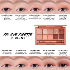 Eyeshadow Color Combination Chart Clio Pro Eye Palette 03 Coral Talk