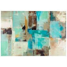 blue and brown wall art blue brown white tone abstract canvas wall decor
