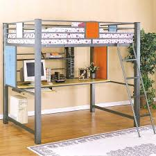 bunk beds desk combo single bed with desks table underneath and wood endearing ikea