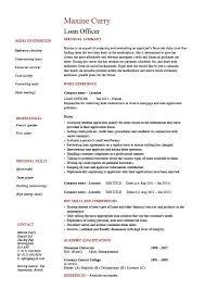 Cute Consumer Loan Processor Job Description Officer Resume Example
