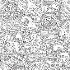 塗り絵大人ますseamles ヘナ 一時的な刺青 抽象的な花柄のスケッチ