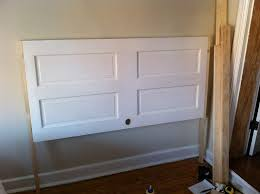 how to make a headboard out of a door opportunity knocks transforming an old door into