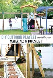 free diy wooden playset plans