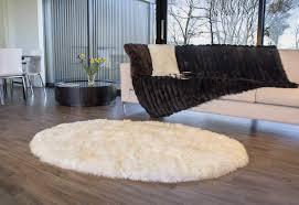 long wool oval sheepskin are rug ivory