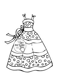 Small Picture Dress summer polka dot coloring page for girls printable free