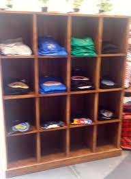 custom display furniture retail. Rustic Wood T Shirt Cubby Display Unit Custom Furniture Retail