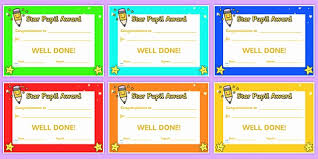 Star Student Certificates 30 Star Student Award Printable Pryncepality