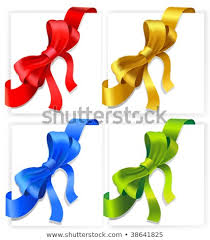 Vector Bows Red Gold Blue Green Stock Vector Royalty Free 38641825